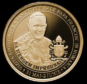 Папа Франциск  50 бани  Румыния 2019