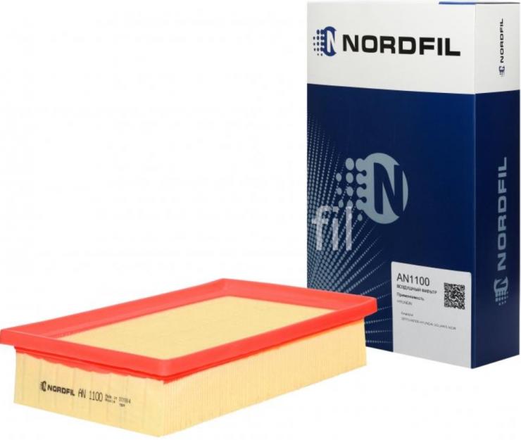 Фильтр воздушный Hyundai Solaris II 2017- AN1100 Nordfil