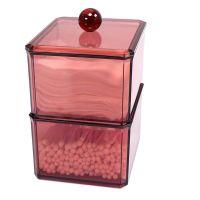 Акриловый контейнер для хранения мелочей Multi-Functional Storage Box, модель 3124, цвет бордовый (3)