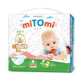 Подгузники miTomi Premium S82 (до 6кг)