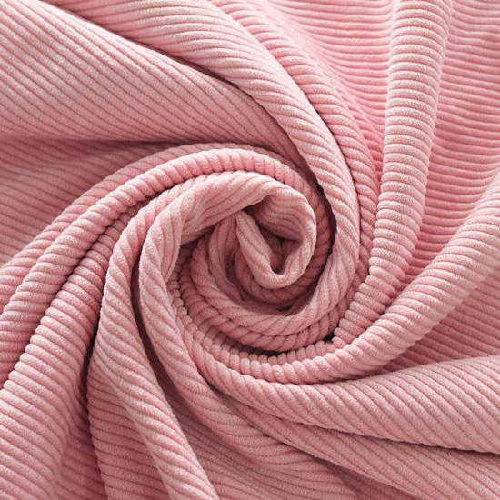 Вельвет в рубчик - розовый
