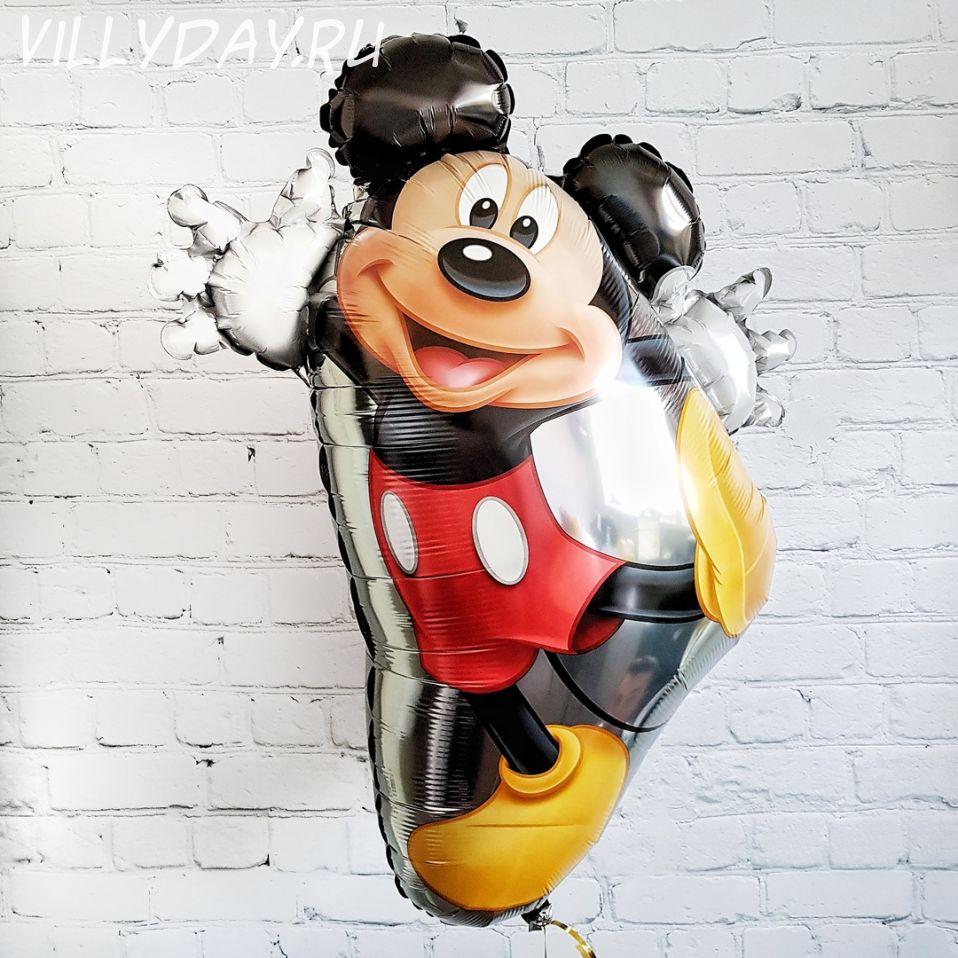 Фигурный шарик из фольги Микки танцующий (55смX78см)