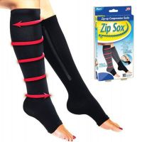 Компрессионные гольфы Zip Sox (Зип Сокс), цвет черный (1)