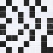 Stripes Мозаика чёрный+серый 30х30