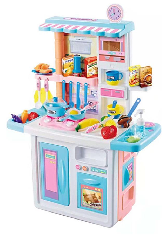 688-1 Кухня детская игровая с водой, высота 84 см., 33 аксессуара