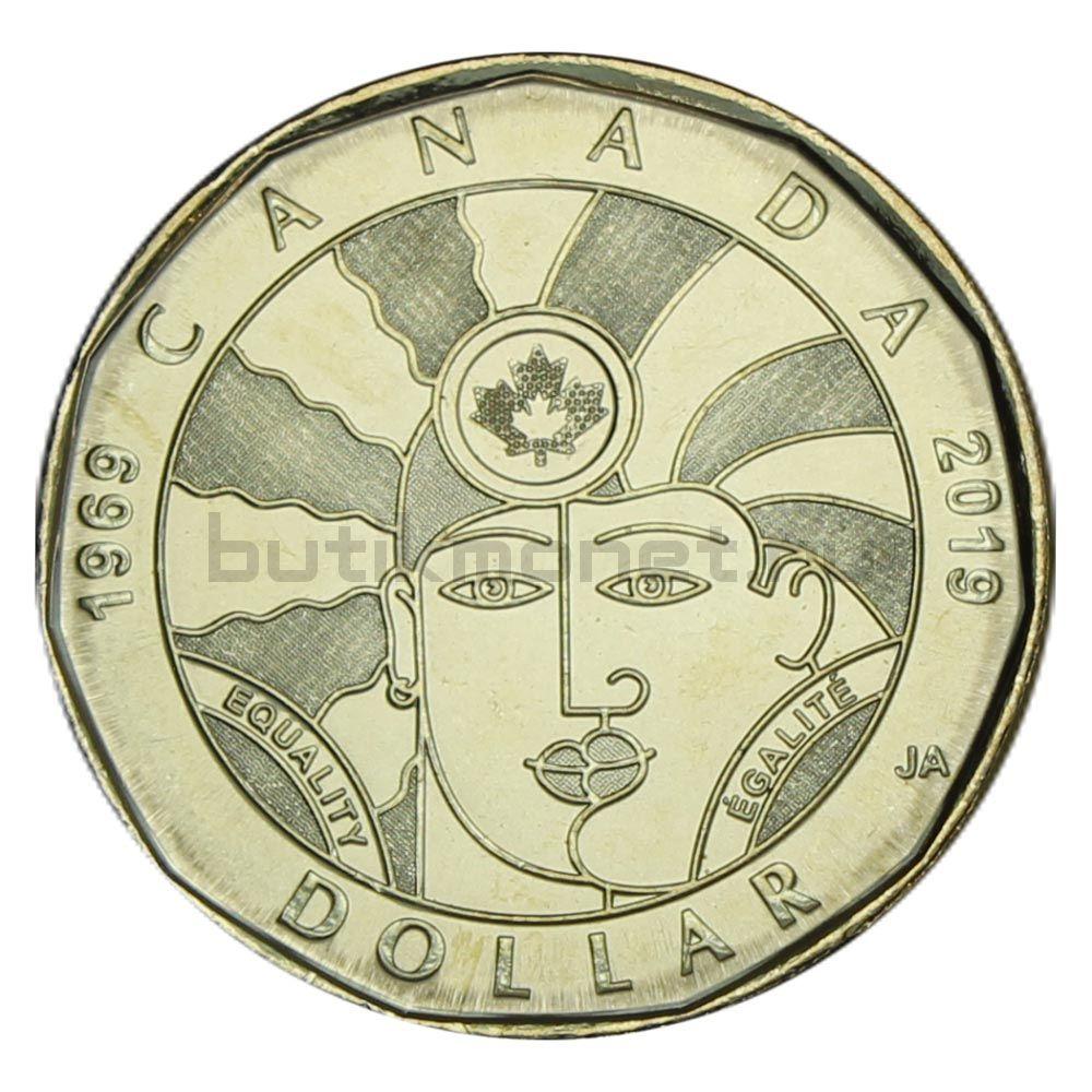 1 доллар 2019 Канада 50 лет декриминализации гомосексуализма в Канаде