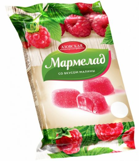 Мармелад желейный со вкусом Малины 300г Азов
