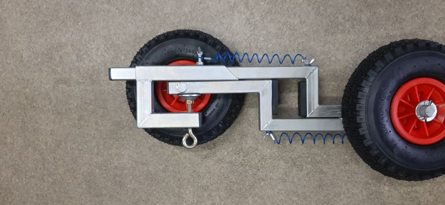 Шасси (колеса) транцевые на струбцине