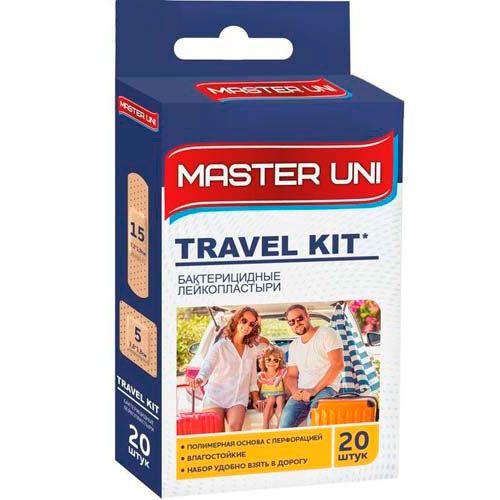Пластырь Master uni travel kit бактерицидный на полимерной основе 20 шт
