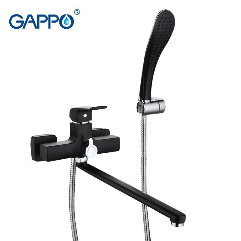 Gappo G2250 Aventador Черный смеситель для ванны