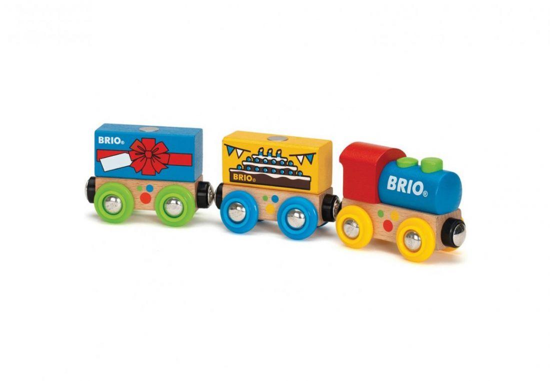 BRIO Паровозик «День Рождения», 5 элементов