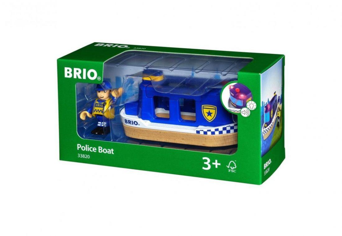 """BRIO Игровой набор """"Полицейский катер"""", свет, звук"""