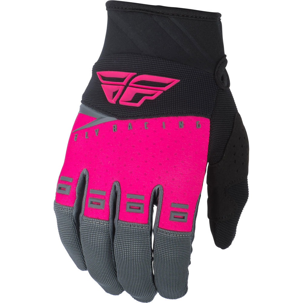 Fly Racing - 2019 F-16 Neon Pink/Black/Grey перчатки, розово-черно-серые