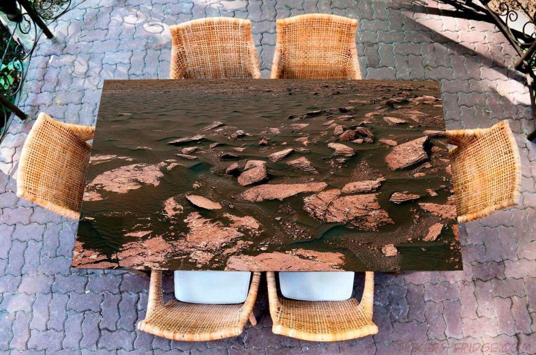 Наклейка на стол - Марс