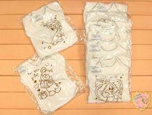 "Костюм: шапка, боди-лодочка, штаны dA-KS353-SUj(b) (жаккард, медвежонок) | Код товара 01454 | Оптом от производителя ""Мамин Малыш"" | Принт мишка, зайчик"