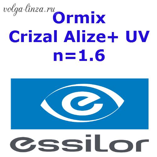 1,6 Ormix  Crizal Alize+ UV