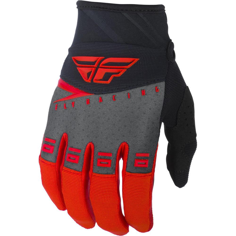 Fly Racing - 2019 F-16 Red/Black/Grey перчатки, красно-черно-серые