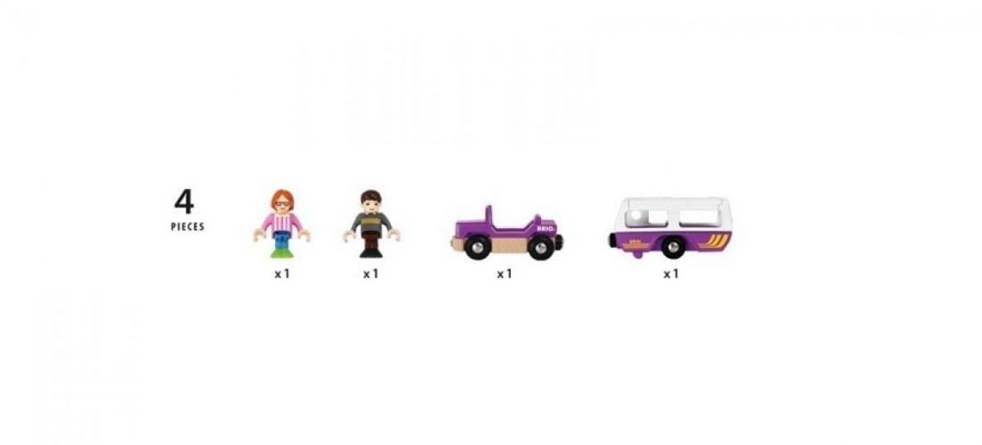 """BRIO Игровой набор """"Трейлер для путешествий"""""""