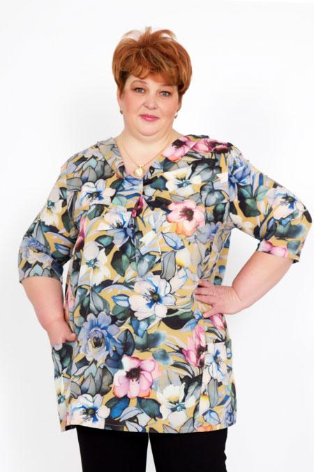 "Блуза ""Триана"" разноцвет, креп"