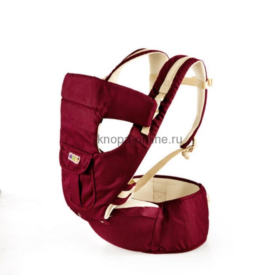 Кенгуру-рюкзак Hipseat с сидением - бордовый
