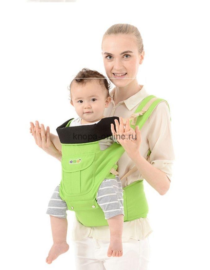 Кенгуру-рюкзак Hipseat с сидением - зеленый