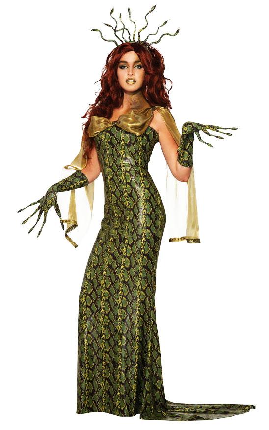 костюм медузы горгоны на хэллоуин