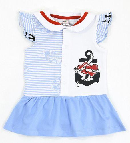 Боди-платье для новорожденных Bonito голубое с якорем