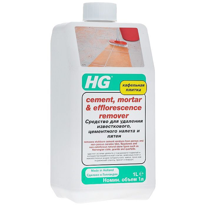 HG Средство для удаления известкового, цементного налета и пятен, 1 л