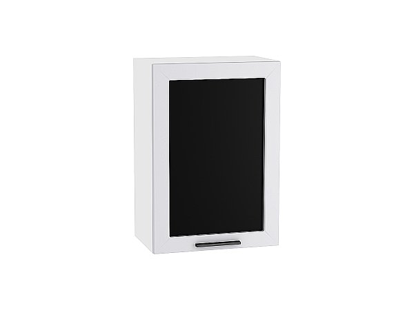 Шкаф верхний Глетчер В500 со стеклом (Гейнсборо Силк)