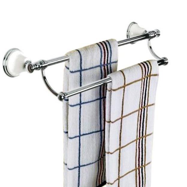 Двойной держатель полотенец для ванной