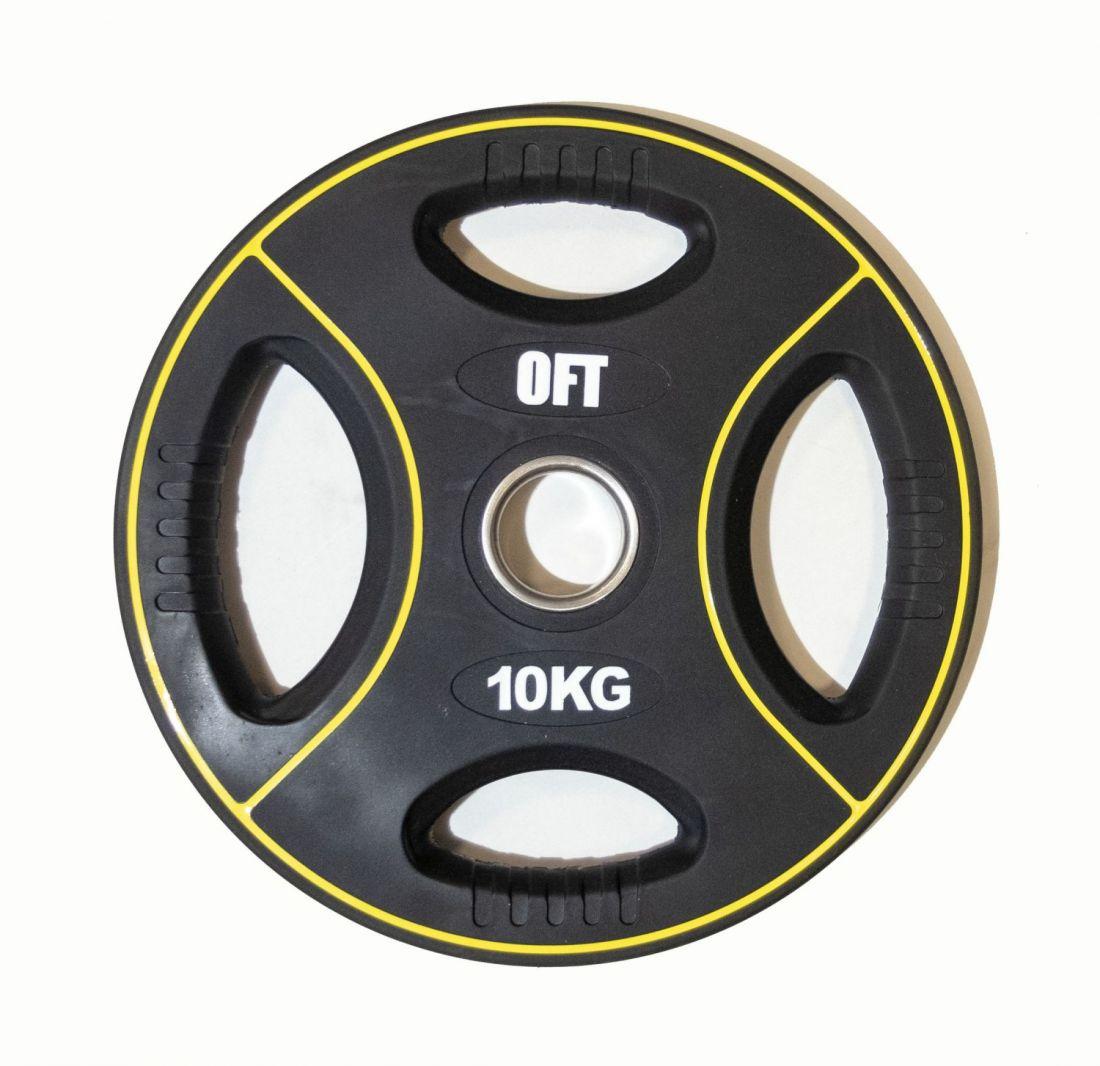 Диск для штанги олимпийский полиуретановый 10 кг