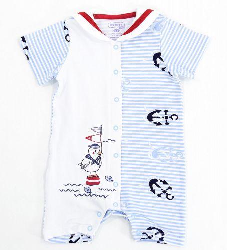 Полукомбинезон для новорожденного мальчика Bonito с чайкой