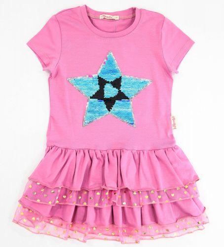 Платье на девочек 5-8 лет Bonito сиреневое star