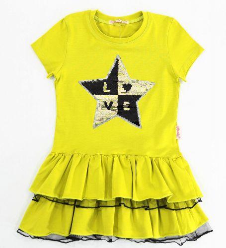 Платье на девочек 5-8 лет Bonito Рапсово-жёлтый star