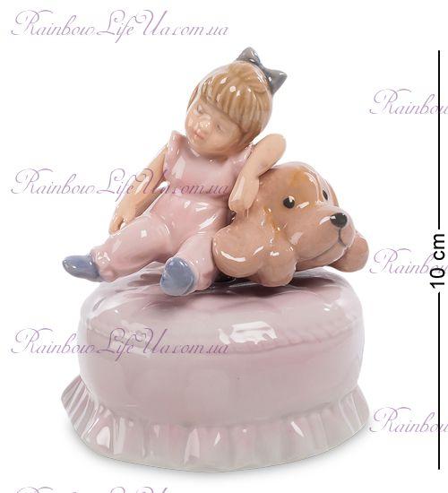 """Статуэтка муз. малышка и щенок """"Pavone"""""""