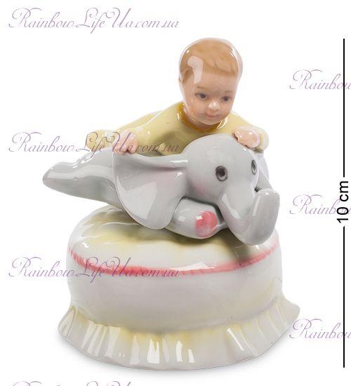"Статуэтка муз. малыш и слоненок ""Pavone"""