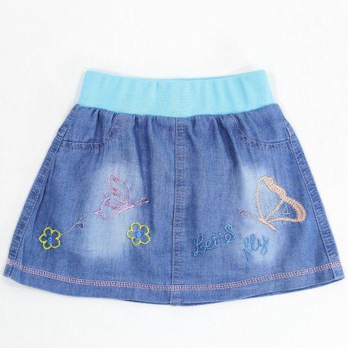 Джинсовая юбка для девочек 2-5 лет Bonito Jeans бирюзовый