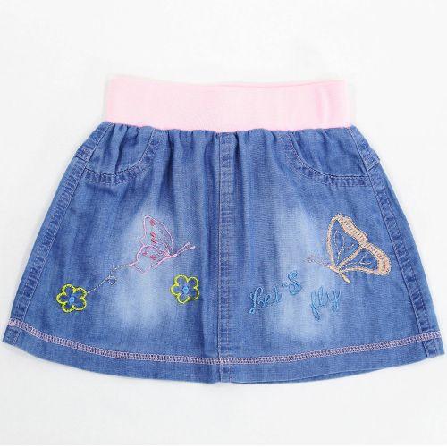 Джинсовая юбка для девочек 2-5 лет Bonito Jeans розовый
