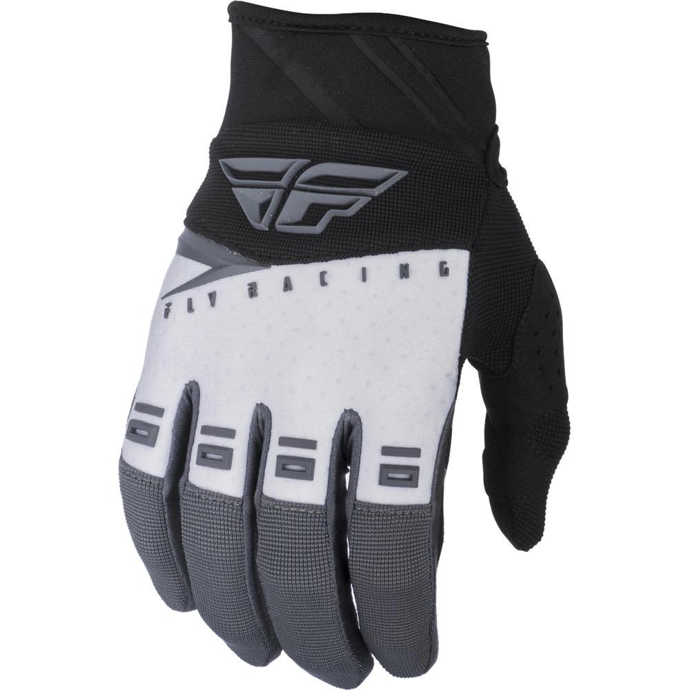 Fly Racing - 2019 F-16 Black/White/Grey перчатки, черно-бело-серые