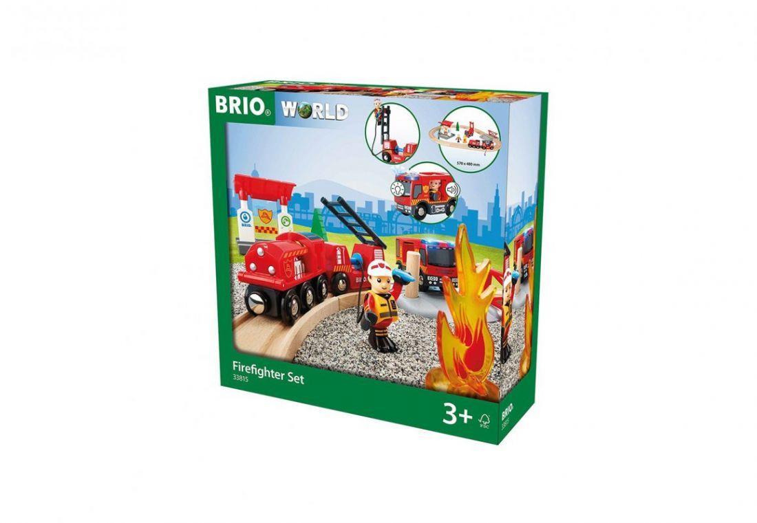 """BRIO Игровой набор ж/д """"Пожарная команда спасателей"""", свет, звук"""