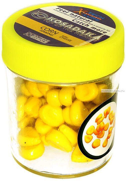 Купить Силиконовая приманка Kosadaka Кукуруза плавающая 18гр / цвет: желтый (запах сыра)