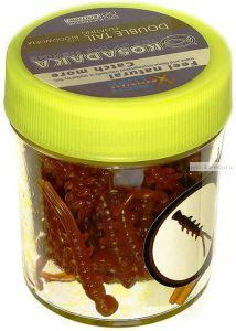 Силиконовая приманка Kosadaka Двухвостка плавающая 18гр / цвет: коричневый (запах мотыля)