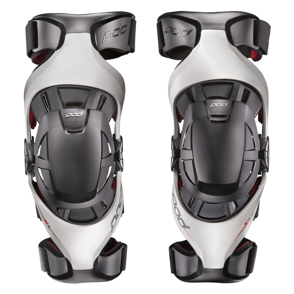 Pod - K4 Light Grey/Red, комплект наколенников-суставов
