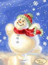 ТМ-110. Счасливый Снеговик. А4 (набор 575 рублей) Tela Artis