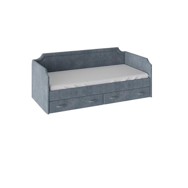 Кровать «Кантри» с мягкой обивкой и ящиками