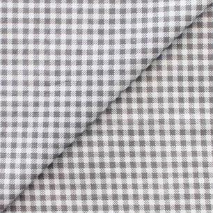 Ткань Хлопок Серая клетка 50x40