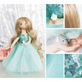 Интерьерная кукла «Флёр», набор для шитья, 18 × 22.5 × 3 см