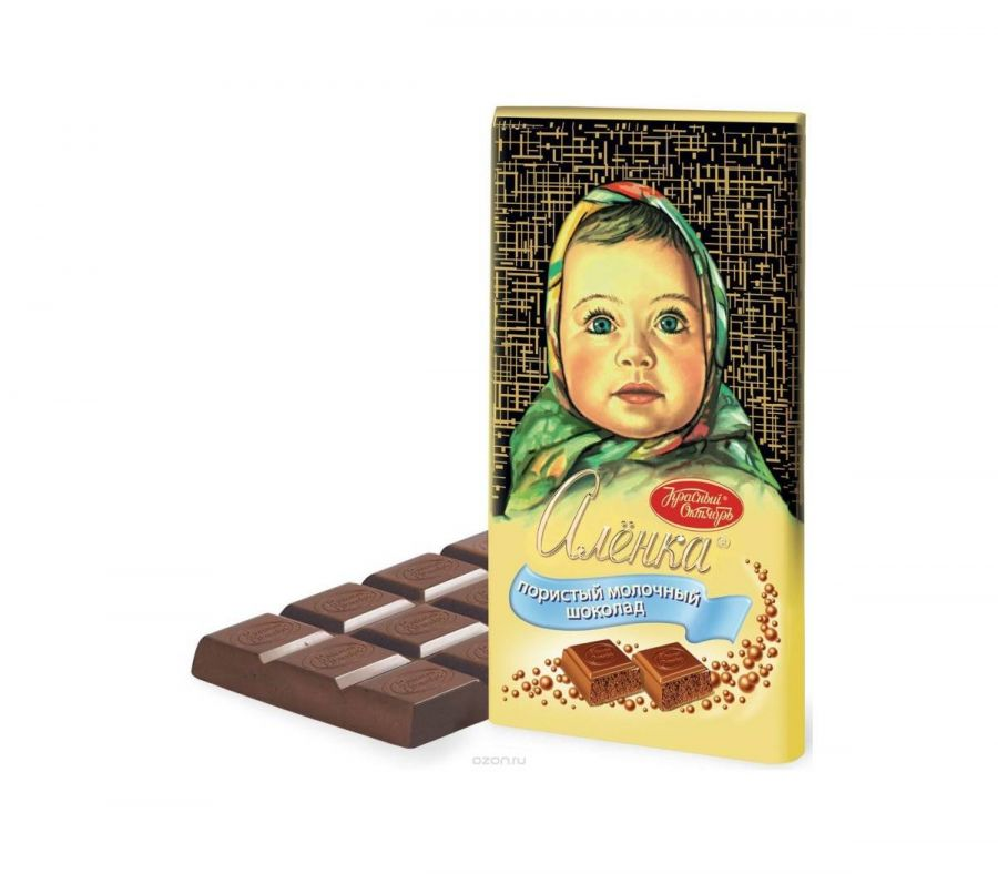 Плитка шоколада Аленка