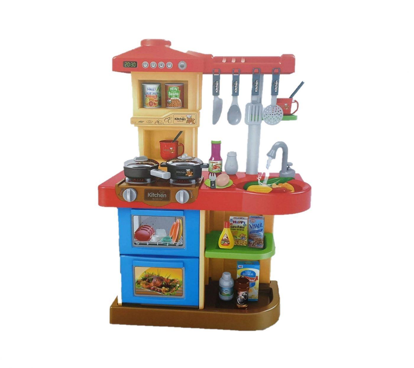 WD-R17 Детская кухня интерактивная игровая с большой мойкой со звуками и светом