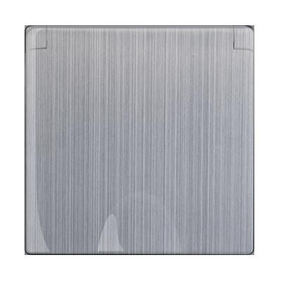 Накладка для розетки IP44 с крышкой WL02-SKGS-IP44-CP глянцевый никель